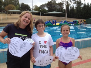 Swimathon 2014 thank you from Zac, Di and Bianca